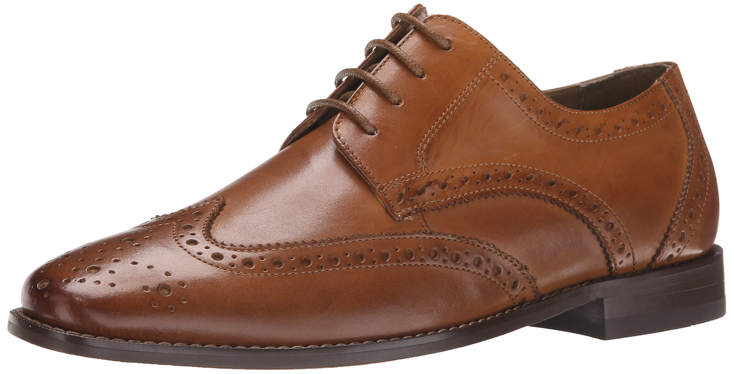 Florsheim Men's Montinaro Wingtip Dress Shoe Lace up Oxford, Saddle Tan, 8.5 3E US by Florsheim