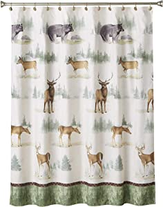 SKL Home by Saturday Knight Ltd. Home on The Range Fabric Shower Curtain, Multicolored