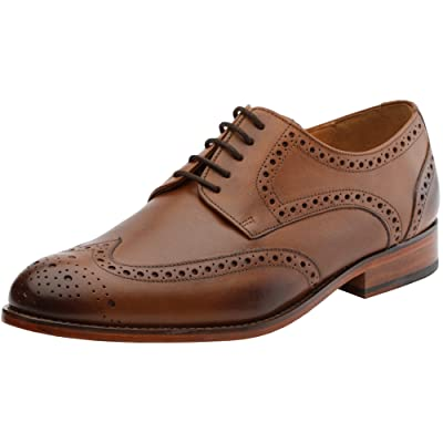 Amazon.com | 3DM Lifestyle Men's Classic Brogue Derby Wing-Tip Lace Up Leather Lined Perforated Dress Oxfords Shoes | Shoes