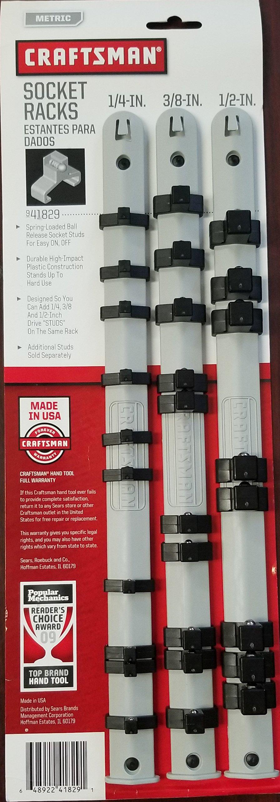 Craftsman 3 pc. Socket Holder Racks - Made in USA