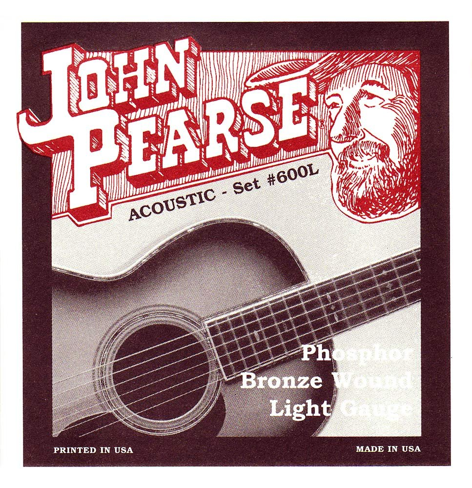 John Pearse 600L Phosphor Bronze Acoustic Guitar Strings
