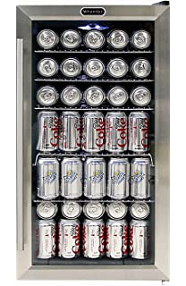 Amazoncom Danby 120 Can Beverage Center Stainless Steel DBC120BLS