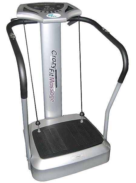 @tec Vibrationsplatte, Vibration Trainings-Gerät für Bauch Beine Po Crazy-FIT-Massage - effektiver Vibrationstrainer - 4 Prog