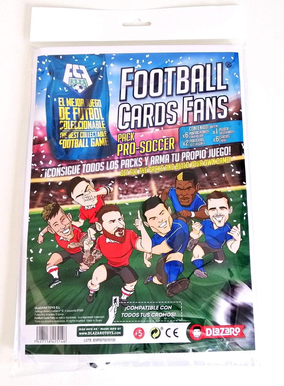 DLAZARO Football Cards Fans Pro Soccer, Juego de Mesa, Fútbol con Cartas coleccionables Compatible con cromos de panini y adrenalyn: Amazon.es: Juguetes y juegos