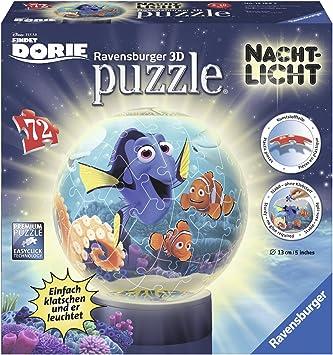 Ravensburger 12189 Findet Dorie 3D Puzzle Ball, 72 teilig Nachtlicht
