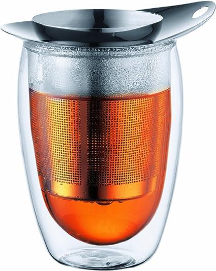 Bodum K10547-16 New yo-yo - Vaso con Doble Pared y Filtro para infusiones de Acero Inoxidable (0,36 l): Amazon.es: Hogar