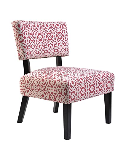 Merveilleux Container Furniture Direct Charlotte Collection Contemporary Designer  Upholstered Patterned Fabric Accent Chair With Solid Wood Legs