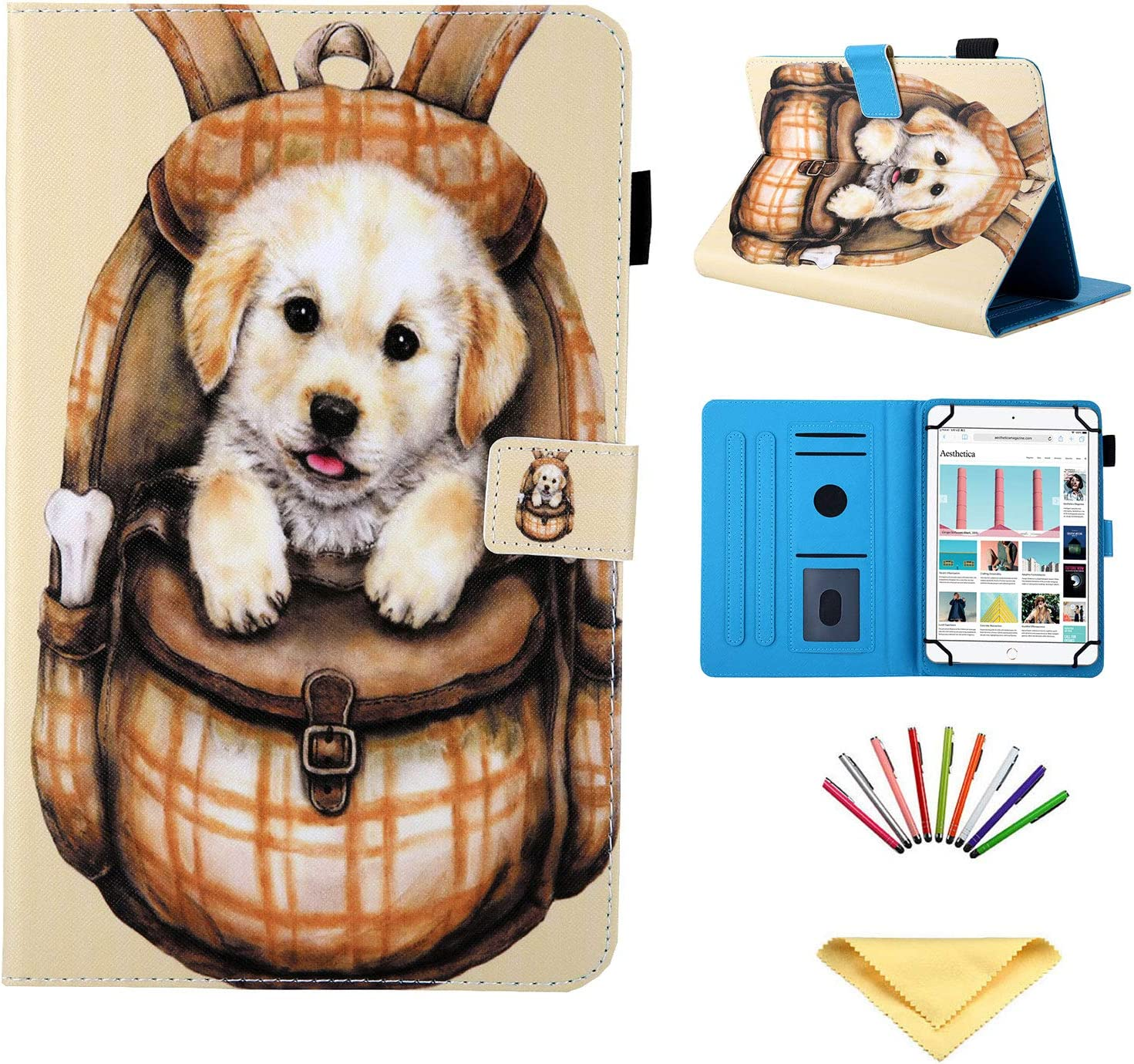 Universal Case for 7 inch Tablet, Uliking Stand PU Leather Cover for Samsung Galaxy Tab A/2/3/4/E 7.0, Tab 3/Tab E Lite 7.0 for Lenovo/HP/ASUS Zenpad/LG/Xiaomi/Mediapad More 6.5