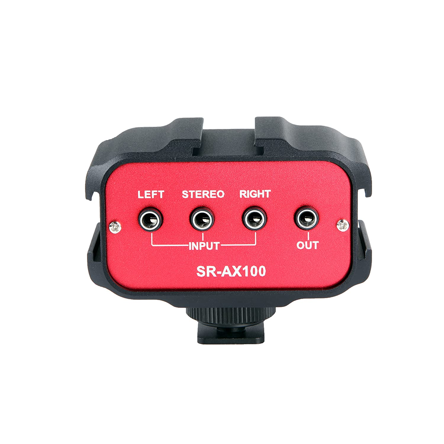Saramonic SR-AX100 2-Channel 3.5-Millimeter Audio Adapter, Red/Black