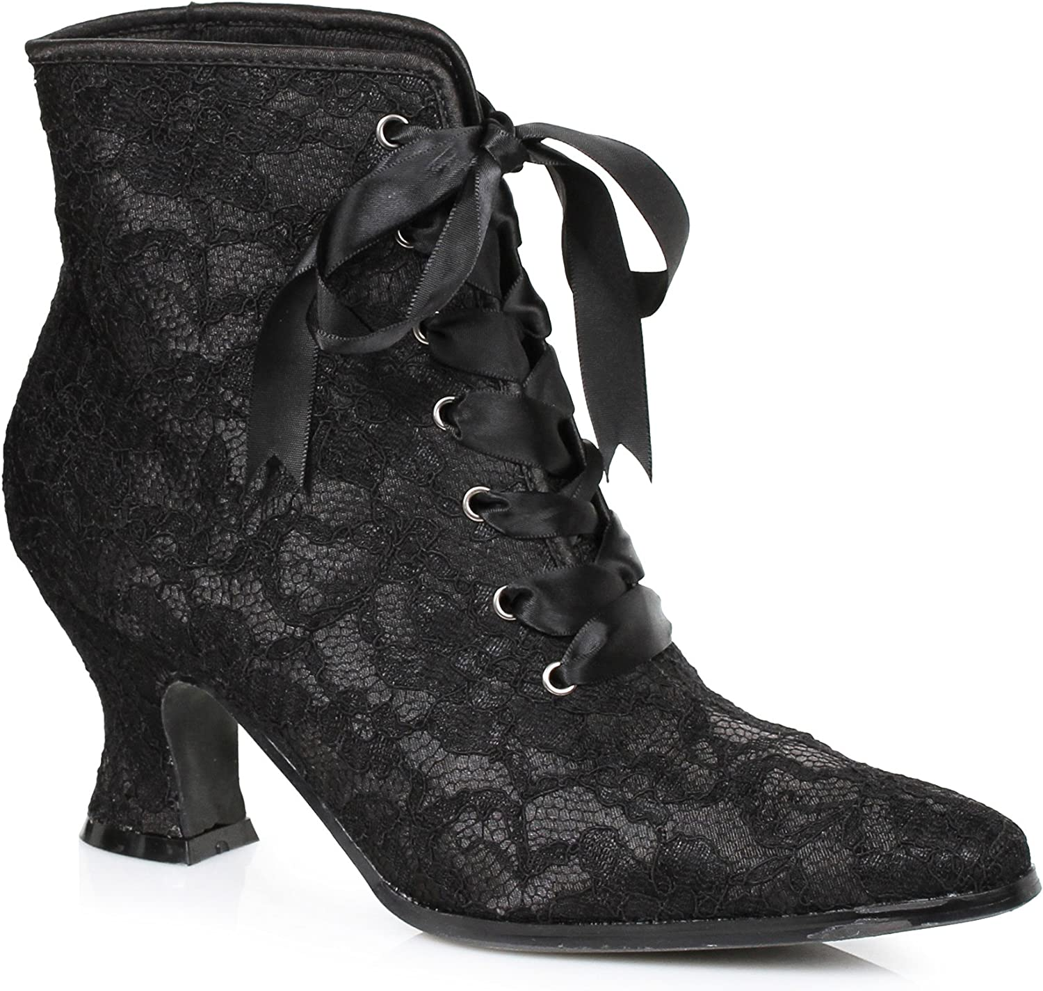 Black;Large Ellie Shoes 1.5 Heel Childrens Boot with Lace
