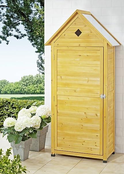 animalmarketonline armario ripostiglio Caseta de jardín de madera 70 x 35,5 x 177 cm