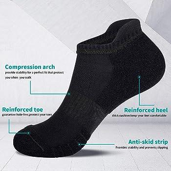 Anqier Running Socks Cushioned Anti