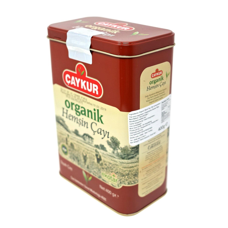 Caykur Organic Hemsin Turkish Tea in Metal Can, 400 Gr - 0.9 Lbs