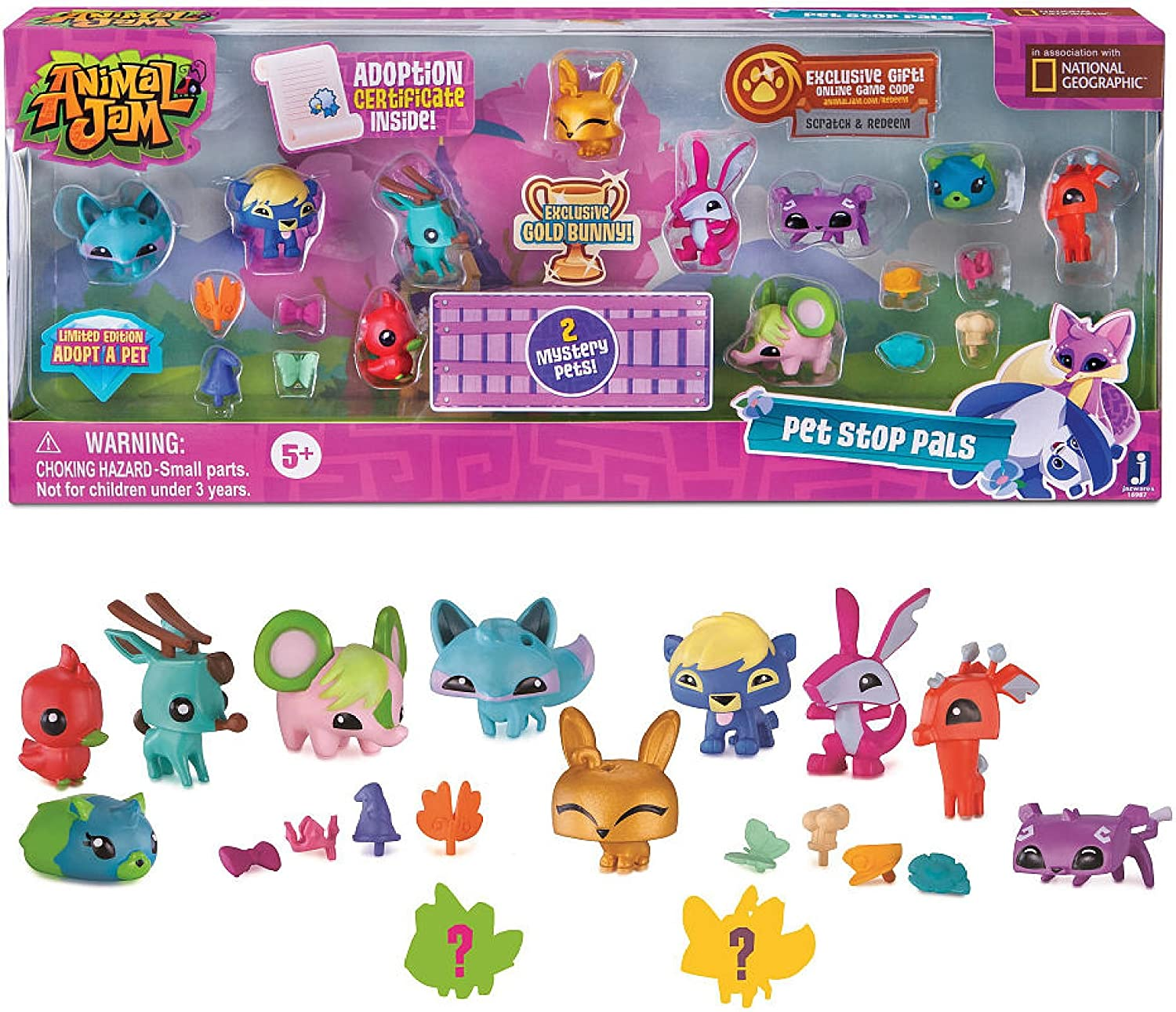 Good Animal Jam Christmas Houses Easy Small Den 2020 Play Wild Amazon.com: Animal Jam Pet Stop Pals with Exclusive Gold Bunny & 2