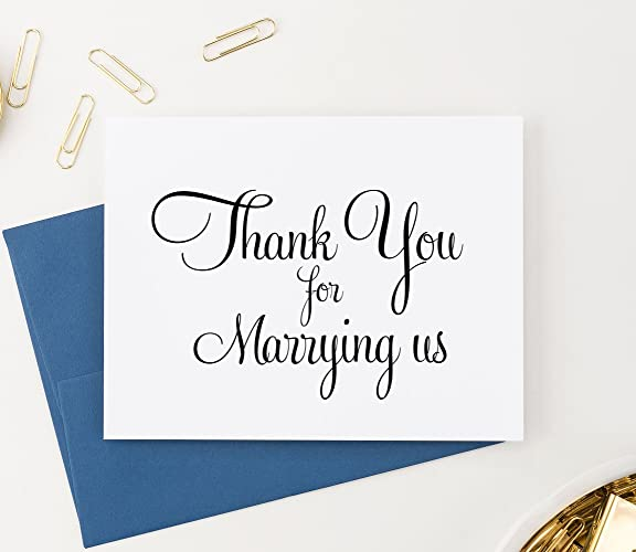 thank you for marrying us card wedding card to your officiant wedding thank you - Wedding Thank You Cards