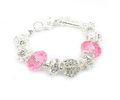Amazon.com: Crystal Charm Bracelet Girls: Snake Charm Bracelets ...