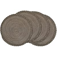 U'Artlines Indoor & Outdoor Round Cotton Placemat, Perfect for Fall, Dinner Parties, BBQs, Christmas Parties and…