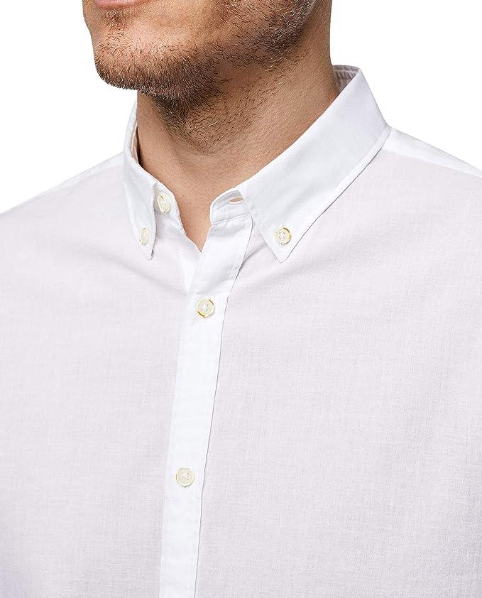 Zara 6048/400/250 - Camisa para Hombre (Manga Larga) Blanco Blanco ...
