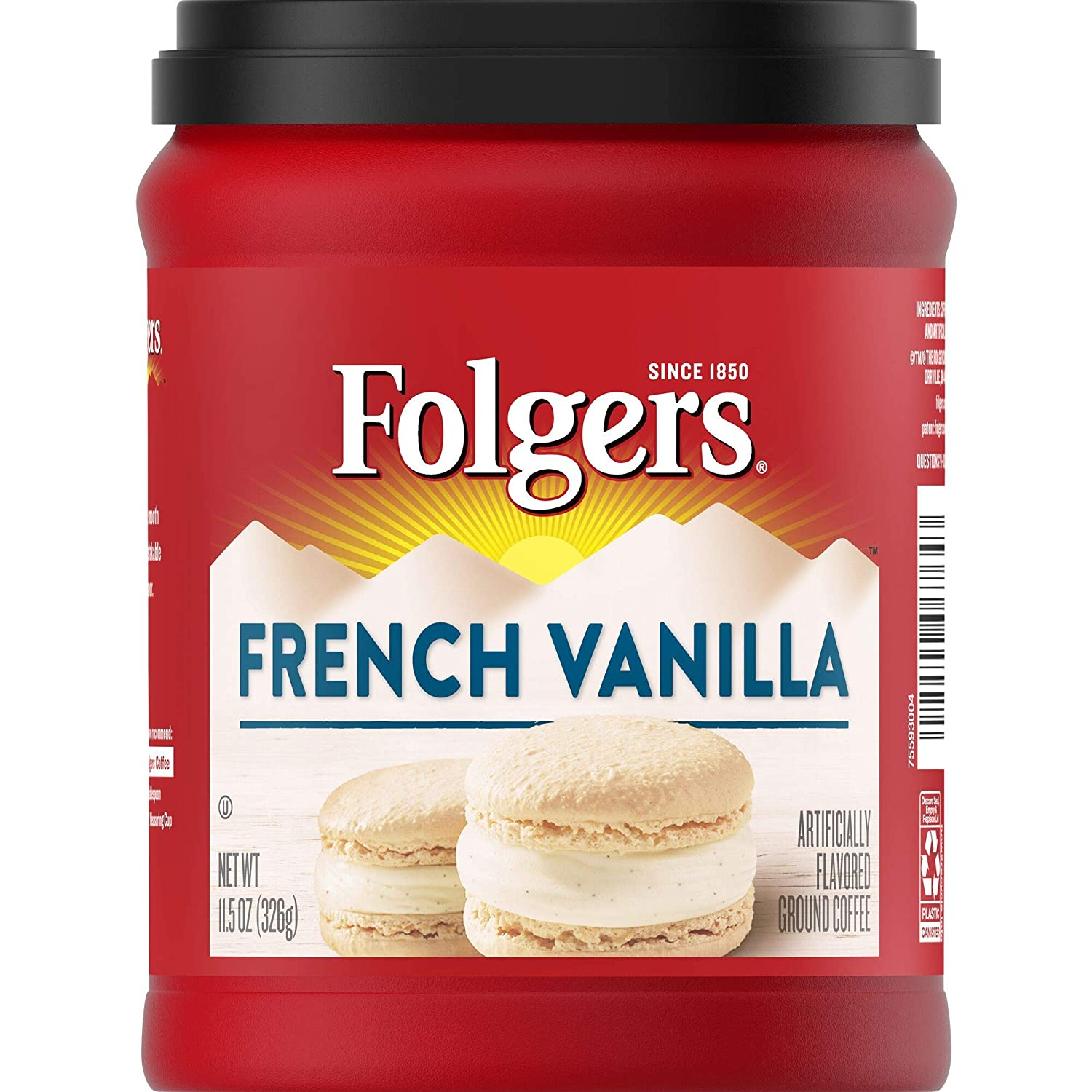Folgers French Vanilla Flavored Ground Coffee, 11.5 Ounces
