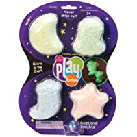 Educational Insights Playfoam Glow-In-The-Dark Paquete de 4 unidades