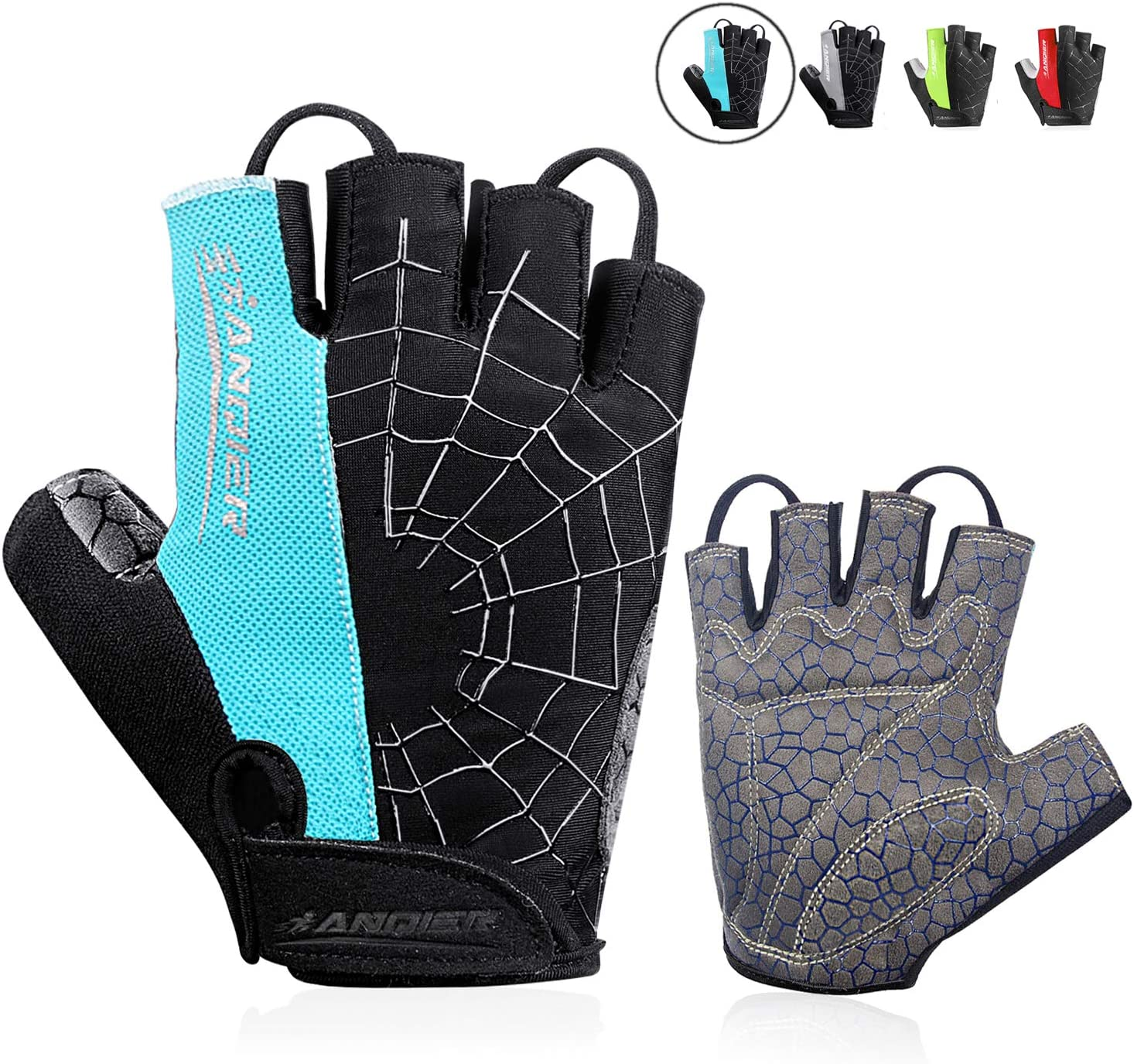 WITERY Cycling Gloves Mountain Bike Gloves Anti Slip Half Finger Road Bicycle Gloves SBR Shock-Absorbing Gel Pad Breathable Workout Glove for Men and Women