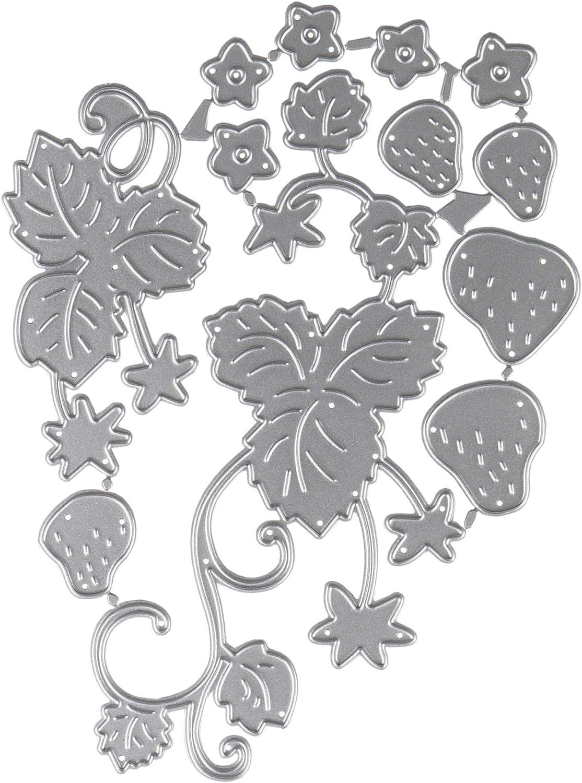 Cutting Dies Metal, Strawberry Metal Embossing Stencils for DIY Scrapbooking Photo Album Decorative DIY Paper Cards Making Gift, Metallic Die Cut