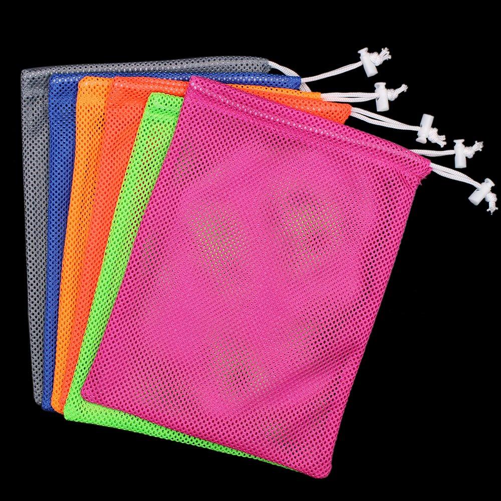 6 PCS Nylon Mesh Drawstring Storage Bag Equipment Bag Stuff Sack Golf Ball Bag ,Assorted by Erlvery DaMain (Image #4)