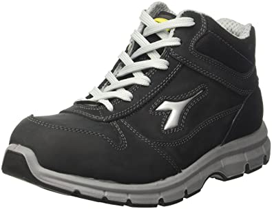 Diadora - Run High S3 Esd, zapatos de trabajo Unisex adulto, Negro (Nero