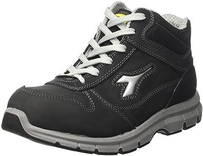 Diadora - Run High S3 Esd, zapatos de trabajo Unisex adulto, Negro (Nero