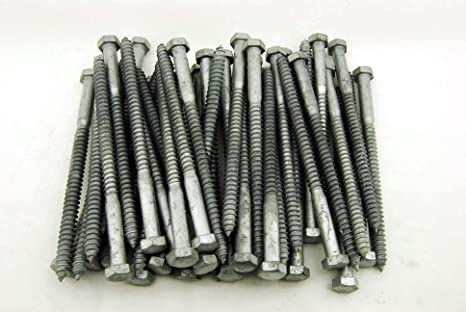 15 Galvanized Hex Head 1 2 X 8 Lag Bolts Wood Screws Amazon Com Industrial Scientific