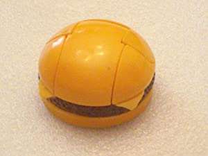 McDonalds Happy Meal New Food Changeables Set 4A - C2 Cheeseburger - 1988