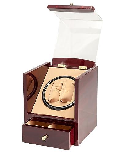 Amazon.com: Marca nuevo rojo madera 2 + 4 – Reloj automático ...