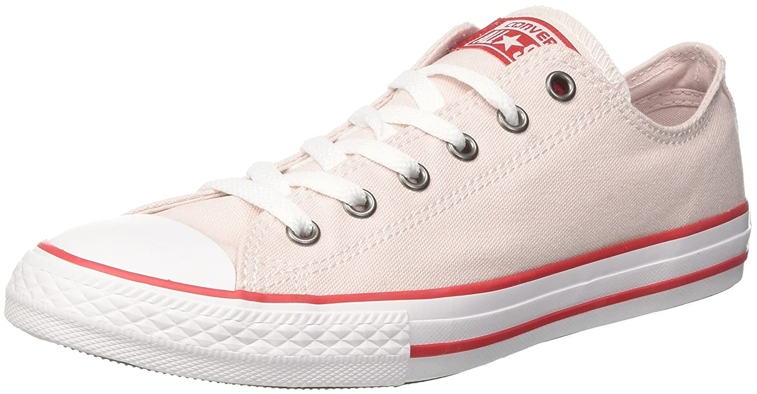 Converse Unisex-Kinder CTAS OX Fitnessschuhe  37/38 EU|Pink (Barely Rose/Enamel Red/White 653)