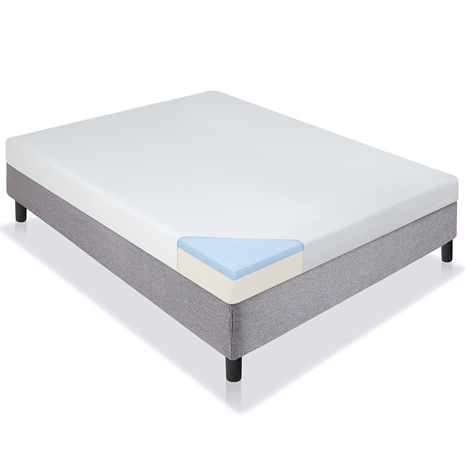 Best Choice Products 5 Dual Layered Gel Memory Foam Mattress CertiPUR-US