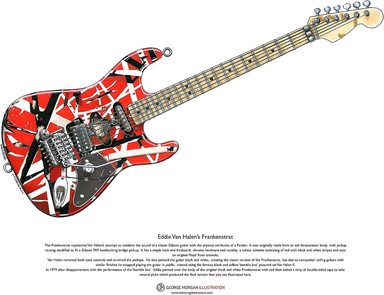 George Morgan Illustration Eddie Van Halen Frankenstrat Arte ...