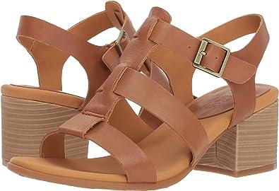 44357cece76 Korks by Kork-Ease Cornelia Leather Dress Block Heel Sandal (10) Brown