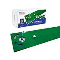 PGA Tour 6ft Putting Mat with Guide Ball, Ball Alignment Tool and Training DVD