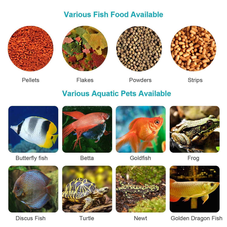 Season Decor Automatic Fish Feeder Aquarium Tank Auto Fish Timed Feeder/Adjustable Fish Food Dispenser/Auto Fish Food Timer Feeder for Vacation Weekend
