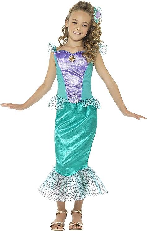SmiffyS 48003L Disfraz Deluxe De Sirena Con Vestido Y Pinza Para ...