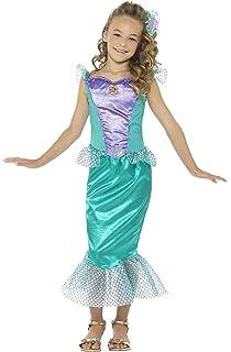 SmiffyS 48003S Disfraz Deluxe De Sirena Con Vestido Y Pinza Para El Pelo, Verde,