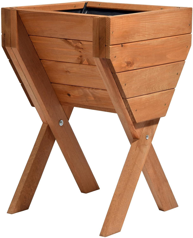 dobar dekoratives Hochbeet aus Holz (Kiefer): Tischbeet Bausatz für ...