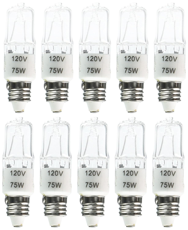 eTopLighting 10 pcs of Candelabra Halogen Light Bulb E11 Base 120V 75W Replacement Bulb 10XE11 120V 75W