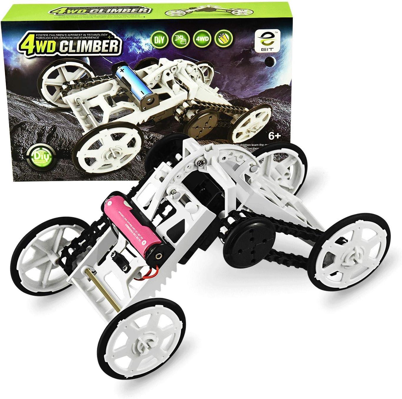 SOKY Proyectos de construcción de circuitos de vehículos de Escalada DIY para niños: Juguetes electrónicos (Blanco)