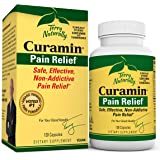Terry Naturally Curamin - 120 Vegan Capsules - Non-Addictive Pain Relief Supplement with Curcumin from Turmeric, Boswellia &