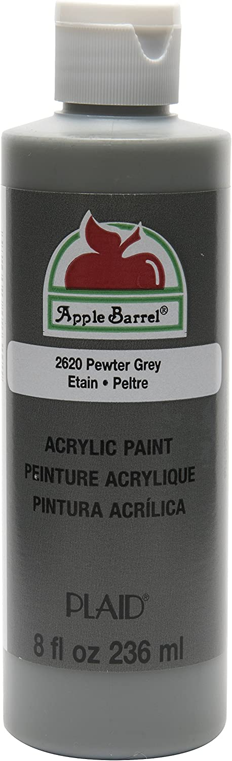 Apple Barrel Acrylic Paint in Assorted Colors (8 oz), K2620 Pewter Grey