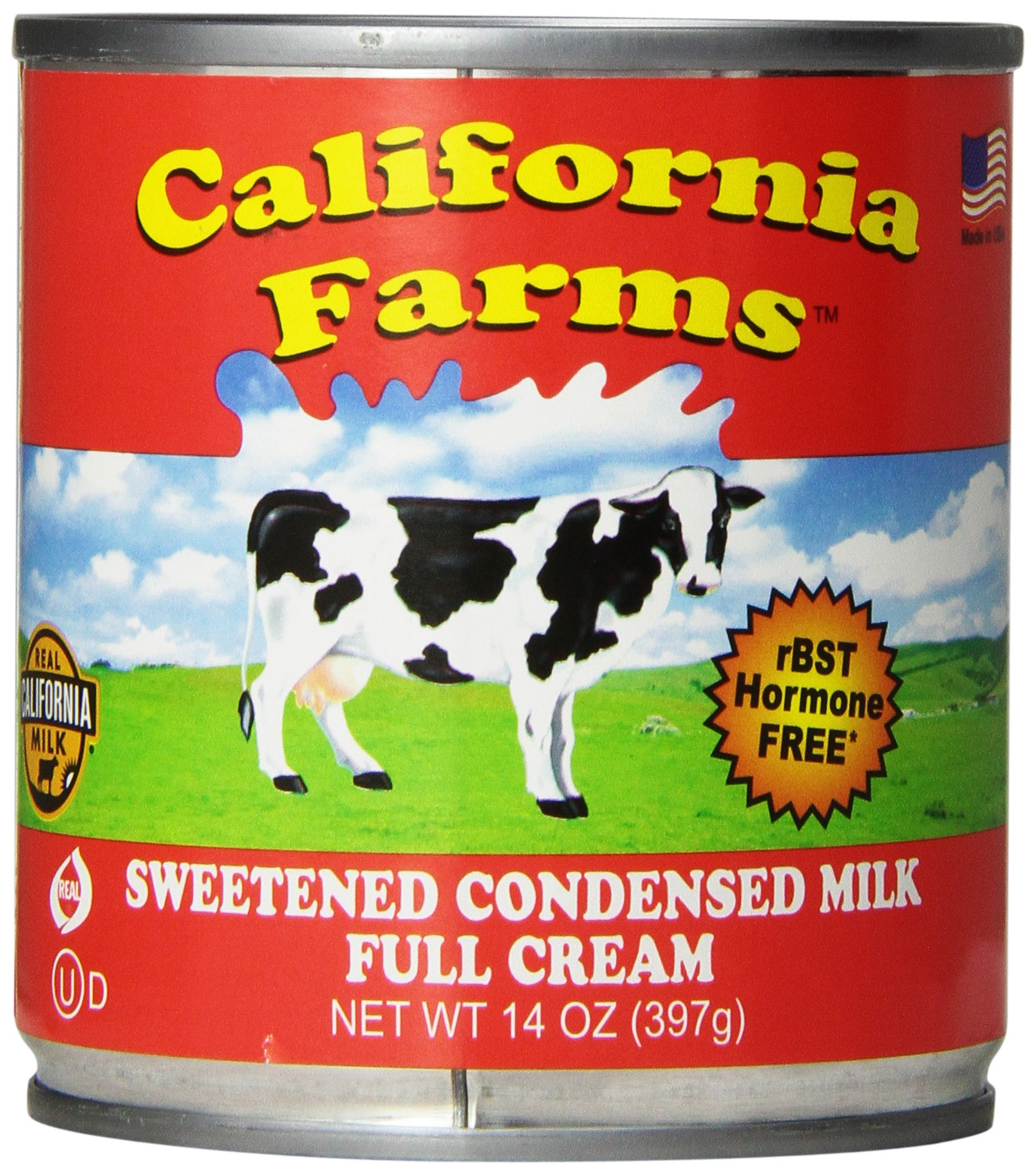 California Farm Sweetened Condensed Milk, 14-Ounce Can (Pack of 8)