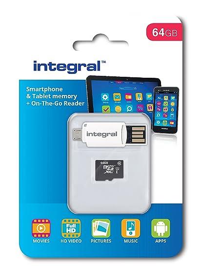 Integral 64 GB microSDXC tarjeta de memoria clase 10 para ...