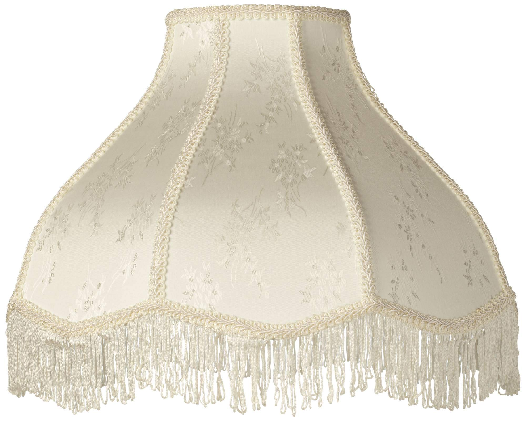 Creme Scallop Lamp Shade Fringe Harp Included 6x17x12x11 (Spider) - Brentwood by Brentwood