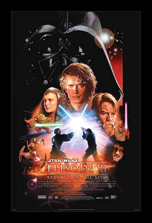 Amazon Com Wallspace Star Wars Revenge Of The Sith 11x17 Framed Movie Poster Posters Prints