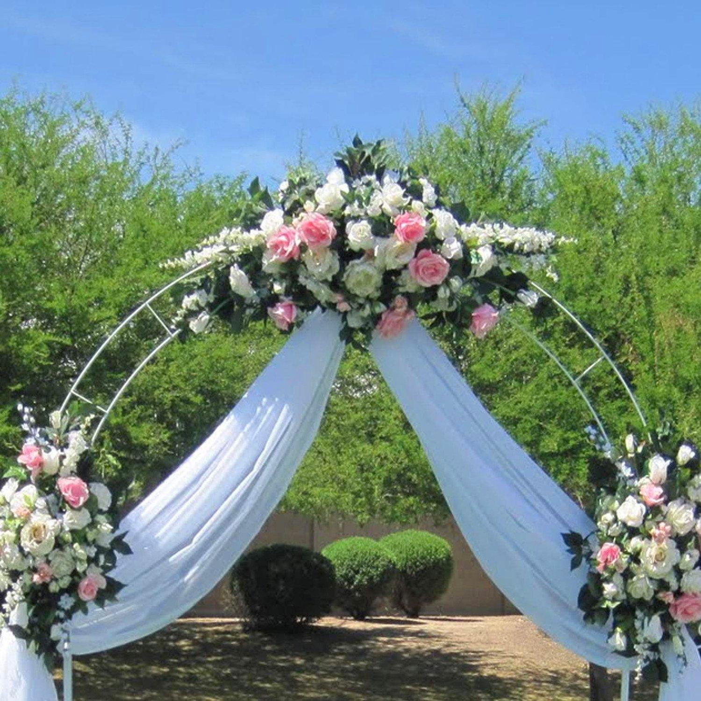 Amazon.com : Adorox 7.5 Ft Lightweight White Metal Arch Wedding ...